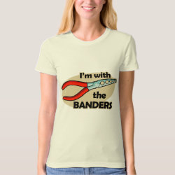 Women's American Apparel Organic T-Shirt with I'm With The Banders design