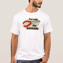 Men's Basic T-Shirt with I'm With The Banders design
