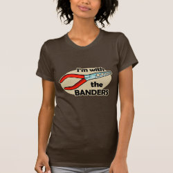 Women's American Apparel Fine Jersey Short Sleeve T-Shirt with I'm With The Banders design