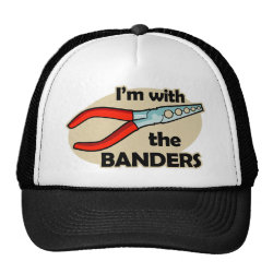 Trucker Hat with I'm With The Banders design