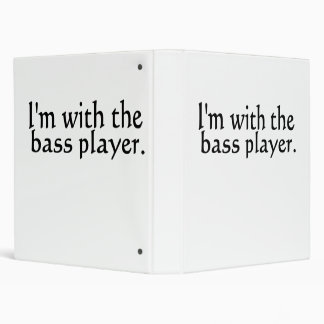 I'm with the bass player band music gift binder