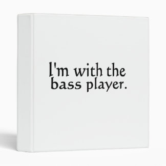 I'm with the bass player band music gift vinyl binder