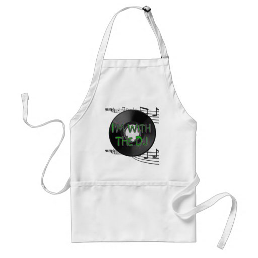 I'm With the DJ Adult Apron