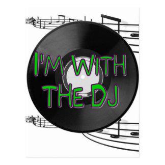 I'm With the DJ Postcard