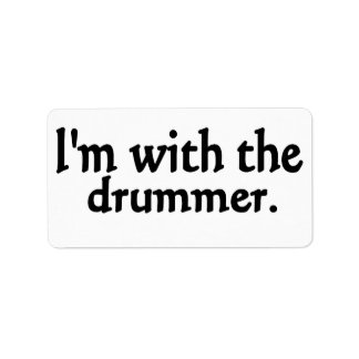 I'm with the drummer custom address labels