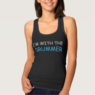 I'M WITH THE DRUMMER JERSEY RACERBACK TANK TOP