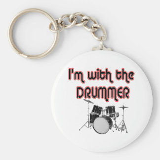I'M WITH THE DRUMMER KEY CHAIN