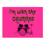 I'M WITH THE DRUMMER POSTCARD