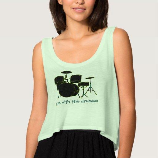 I'm With The Drummer Shirt Tank Tops, Tanktops Shirts