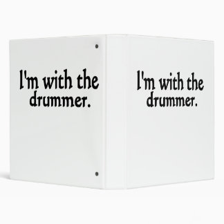 I'm with the drummer vinyl binder
