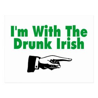 Im With The Drunk Irish Postcard