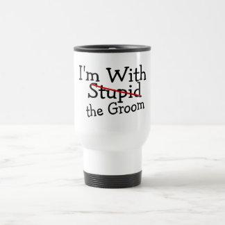 Im With The Groom Travel Mug