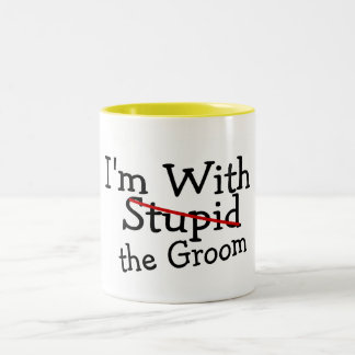 Im With The Groom Two-Tone Coffee Mug