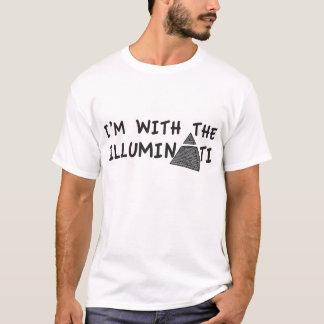 I'm with the Illuminati - Light T-Shirt