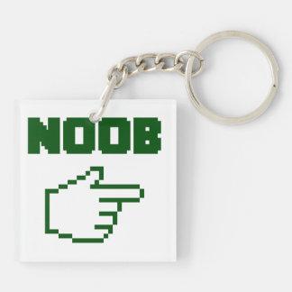 I'm With The Noob Newbie Keychain