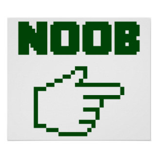 I'm With The Noob Newbie Poster