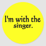 I'm with the singer design classic round sticker