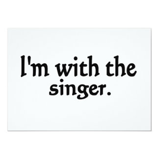 I'm with the singer design 5x7 paper invitation card