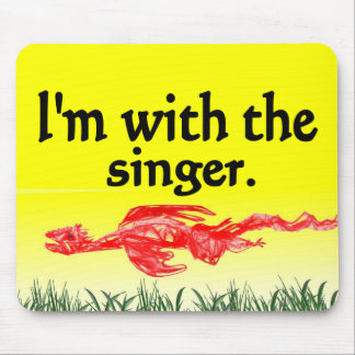 I'm with the singer design mouse pad