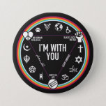 """I&#39;m With You activist gear. Proceeds to the ACLU! Button<br><div class=""""desc"""">Wear your solidarity for the world to see. Since this campaign has started, we&#39;ve raised thousands for the ACLU. Join us and show the world that we&#39;re all in it together! Wear this shirt to your next protest or gathering. A portion of profits will be donated by the store owner....</div>"""