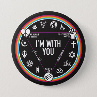 I'm With You activist gear. Proceeds to the ACLU! Button
