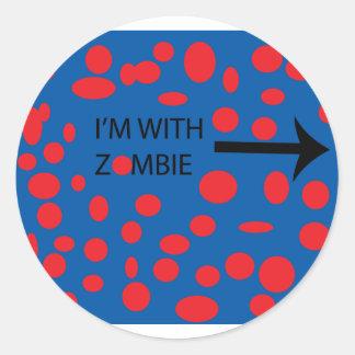 I'm with zombie sticker