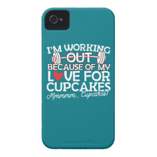 I'm Working Out Because of my Love for Cupcakes iPhone 4 Case