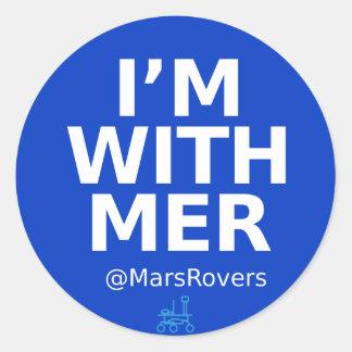"""I'm wth MER"" glossy sticker"
