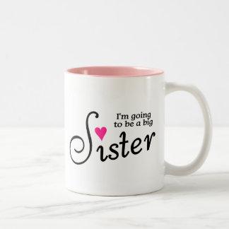 Im yendo a ser una hermana grande taza de café de dos colores