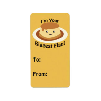 I'm your Biggest Flan Personalized Address Labels