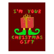 I'm Your Christmas Gift Postcard