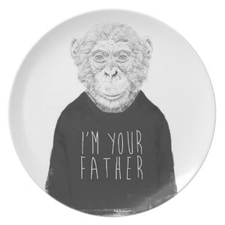 I'm your father melamine plate
