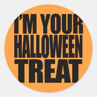 I'm your Halloween Treat Round Sticker