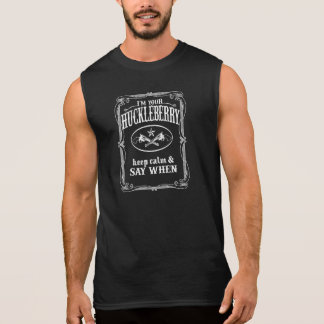 I'm Your Huckleberry (vintage distressed look) Sleeveless Shirt