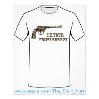 "I'm Your Huckleberry Western Gun 4.5"" X 5.6"" Flyer"