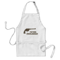 I'm Your Huckleberry Western Gun Adult Apron