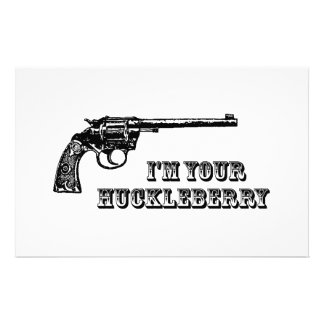 I'm Your Huckleberry Western Gun Personalized Stationery