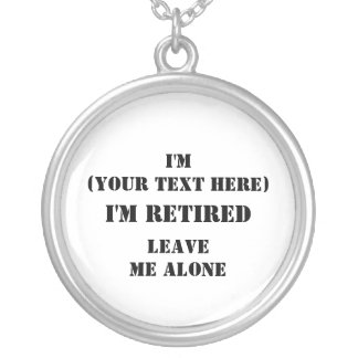 I'm (Your Text Here) Round Pendant Necklace