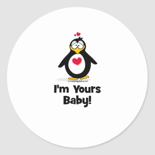 I'm Yours Baby Classic Round Sticker