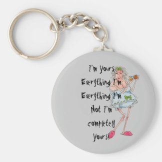 I'm yours basic round button keychain
