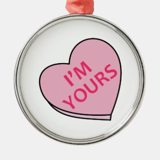 IM YOURS CANDY HEART CHRISTMAS TREE ORNAMENTS