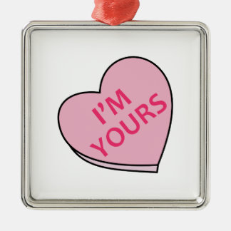 IM YOURS CANDY HEART CHRISTMAS ORNAMENTS