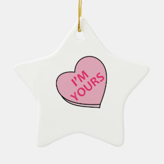 IM YOURS CANDY HEART ORNAMENT