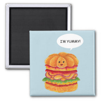 I'm Yummy! - Burger Series 2 Inch Square Magnet