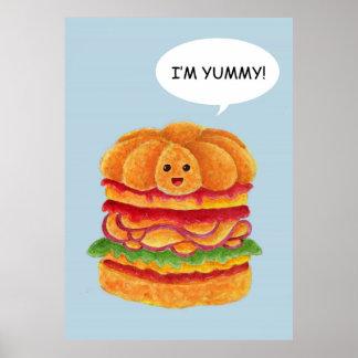 I'm Yummy! - Burger Series Poster