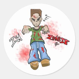 I'M Zombie Boy Toy by GT Artland Classic Round Sticker