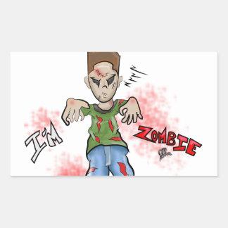 I'M Zombie Boy Toy by GT Artland Rectangular Sticker