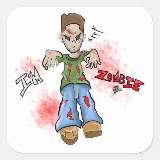 I'M Zombie Boy Toy by GT Artland Square Sticker