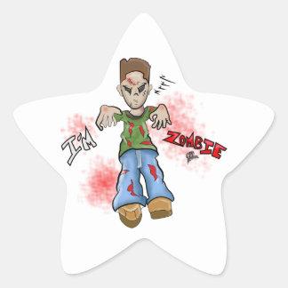 I'M Zombie Boy Toy by GT Artland Star Sticker
