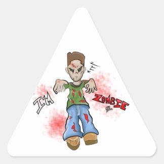 I'M Zombie Boy Toy by GT Artland Triangle Sticker